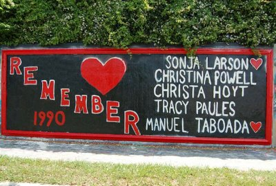 Shown is one of the longest running memorial dedications along the wall. Here, the students can always be remembered by their peers.