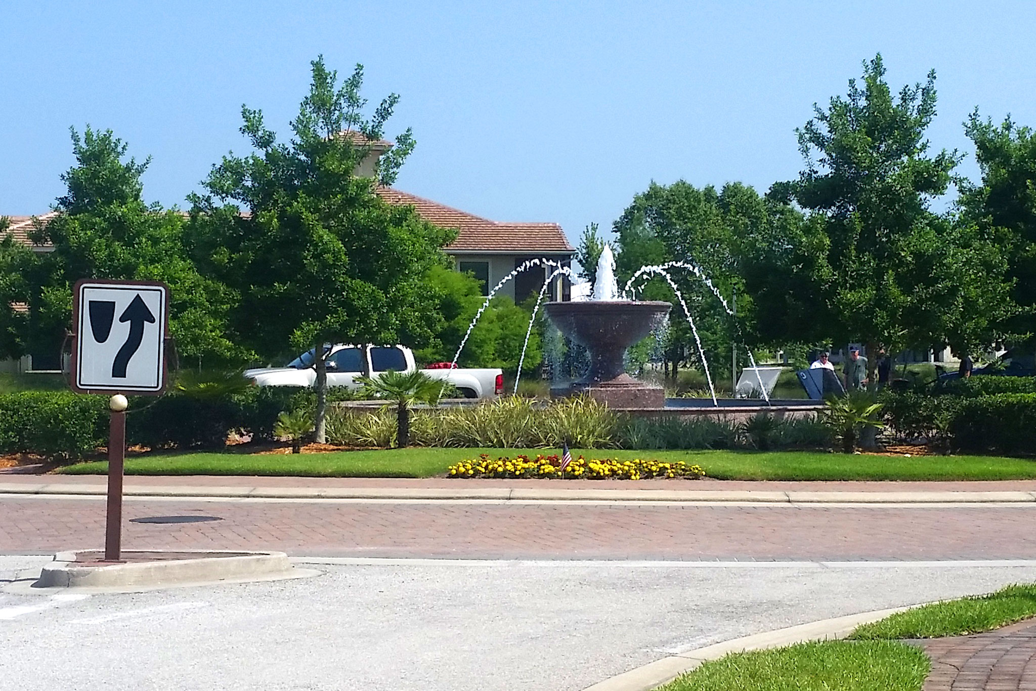 Architectural Fountain Community Roundabout