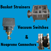 Basket Strainer, Vacuum Switch, Neoprene Connector in Fountain water feature design