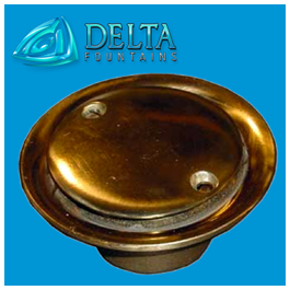 Bronze Floor Inlet Fitting | Delta Fountains