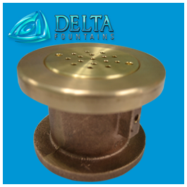 Bronze Ground Effect Bubbler Nozzle Delta Fountains