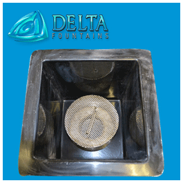Custom Intake Drain Screen In Sump Delta Fountains