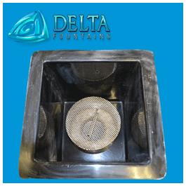 Custom Intake Drain Screen In Sump Delta Fountains