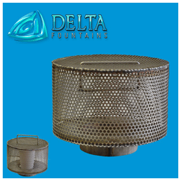 Custom-Intake-Drain-Screen Delta Fountains