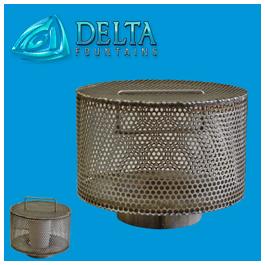 Custom intake drain screen delta fountains for Pond drain design