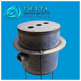 Custom Stainless Steel Discharge Sump Delta Fountains