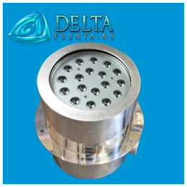 DMX Controlled RGB Submersible Niche Light Fixture | Delta Fountains