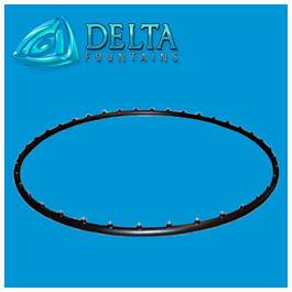 Decorative, Powder-Coated Spray Ring