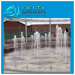 Dela Fountains Interactive Water Feature pop jet