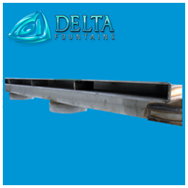 Delta Founains Custom Manufactured Drain Trough