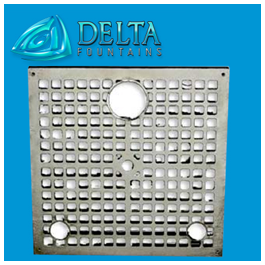 Square Fountain Sump Grate 2