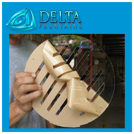 Delta Fountains Acrylic Grate