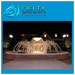 Delta Fountains Architectural Fountain with Lights