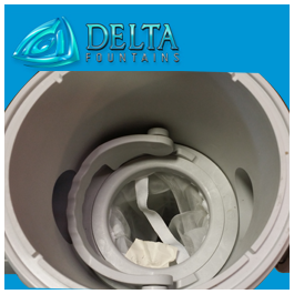 Easy Cleaning Removal Bag Filter | Delta Fountains