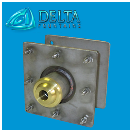Delta Fountains Custom Eyeball Fitting in Membrane Clamp