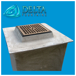 Delta Fountains| Custom Manufactured Fiberglass Nozzle Well