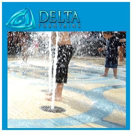 Delta Fountains Custom Pop Jet with Foam Nozzle