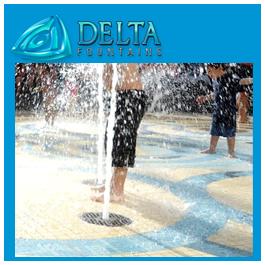 Delta Fountains Custom Pop Jet with Foam Nozzle