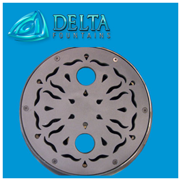 Delta Fountains Decorative Metal Stainless Steel Grate
