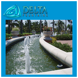 Delta Fountains Design Fountain with Bubble Jet Nozzles