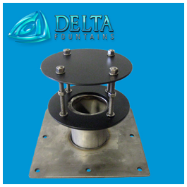 Delta Fountains Discharge Fitting with Diverter Plate