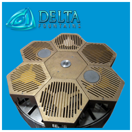 Delta Fountains Discharge Sump with Mist Nozzles