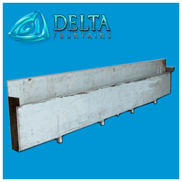 Delta Fountains Discharge Trough