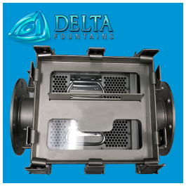 Delta Fountains Double Basket Strainer