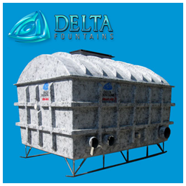 Delta Fountains Fiberglass Collector Tank