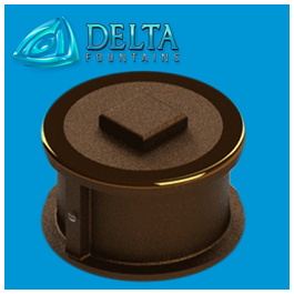 Delta Fountains Floor Drain Fitting Bronze