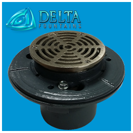 Delta Fountains Floor Drain with Strainer