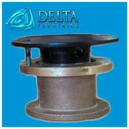 Small Floor Inlet Fitting | Delta Fountains