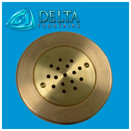 Bronze Shower Head Fountain Nozzle | Delta Fountains