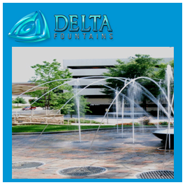 Arching Jet Interactive Fountain