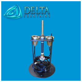 Fountain Light and Nozzle Stand | Delta Fountains