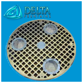 Delta Fountains Metal Fabricated Round Grate