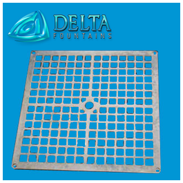 Delta Fountains Metal Square Grate