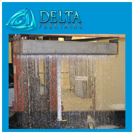 Delta Fountains Mock Up Rain Curtain