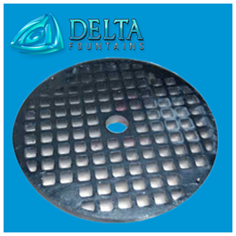 Delta Fountains Nickel Plated Bronze Grate