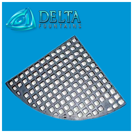 Nickel Plated Bronze Grate 1/4 Round