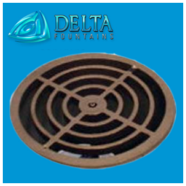 Delta Fountains Pop Ball Grate