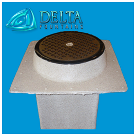 Delta Fountains Pop Jet Nozzle Well