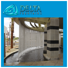 Delta Fountains Curved Rain Curtain