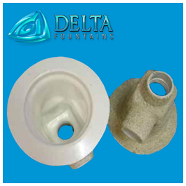 Delta Fountains Round Fiberglass Main Drain