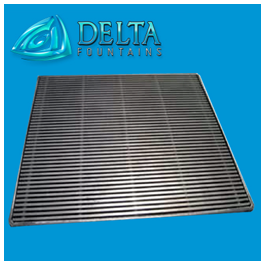 Delta Fountains Square Drain Grate