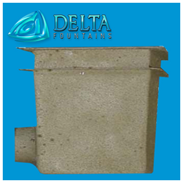 Delta Fountains Square Main Drain Fiberglass