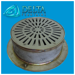 Stainless Steel Gravity Drain Sump | Delta Fountains