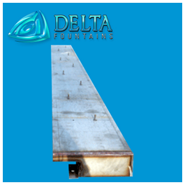 Delta Fountains Stainless Steel Drain Trough
