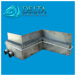 Delta Fountains Stainless Steel Non Linear Trough
