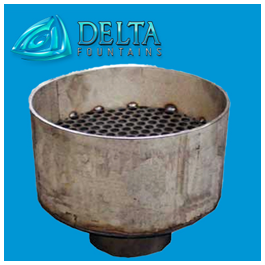 Delta Fountains Stainless Steel Pod Jet Component